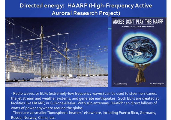 Directed Energy Weapons / Geo-Engineering Main |
